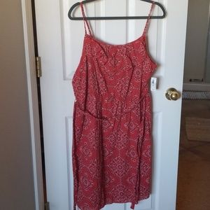 Old Navy XL red bandana print sundress NWT